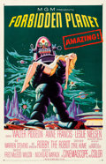 """Movie Posters:Science Fiction, Forbidden Planet (MGM, 1956). Very Fine on Paper. One Sheet (27"""" X 41.5"""").. ..."""