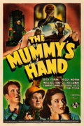 "Movie Posters:Horror, The Mummy's Hand (Universal, 1940). Very Good on Linen. One Sheet(27"" X 41"").. ..."