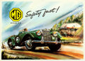"""Movie Posters:Miscellaneous, M.G. Series """"T.F."""" (Morris Motors, 1953). Rolled, Very Fin..."""