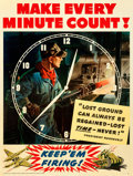"Movie Posters:War, World War II Propaganda (General Motors, 1942). Very Fine- on Linen. Poster (30"" X 40"") ""Make Every Minute Count."". ..."