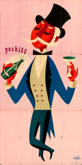 """Movie Posters:Miscellaneous, Perrier (c. 1950). Folded, Fine. French Four Panel Advertising Poster (59"""" X 117""""). """"Pschitt,"""" Herve Morvan Artwork, . ..."""