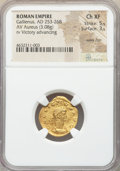 Ancients:Roman Imperial, Ancients: Gallienus (AD 253-268). AV aureus (20mm, 3.08 gm, 7h). NGC Choice XF 5/5 - 3/5, wavy flan....