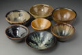 Ceramics & Porcelain, A Group of Seven Japanese Tenmoku Chawan Bowls, 19th-20th century. 3 x 5-1/4 x 5-1/4 inches (7.6 x 13.3 x 13.3 cm). ... (Total: 7 Items)