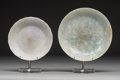 Carvings, Two Chinese Jadeite Shallow Dishes, late Qing Dynasty. 1-1/8 x 6-1/4 inches (2.9 x 15.9 cm) (largest). ... (Total: 2 Items)