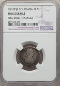 Colombia, Colombia: Ferdinand VII Pair of Certified Reales 1810 P-JF NGC,...(Total: 2 coins)