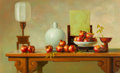 Paintings:Chinese, Unknown Artist (Chinese, 20th Century). Still Life with Pomegranates, 1999. Acrylic on canvas. 31-1/2 x 51-1/2 inches (8...
