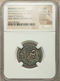 Ancients:Roman Imperial, Ancients: Constantius II, as Augustus (AD 337-361). BIcentenionalis (22mm, 5.08 gm, 11h). NGC MS 4/5 - 5/5, Silvering....