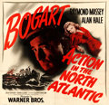 """Movie Posters:War, Action in the North Atlantic (Warner Brothers, 1943). Fine/Very Fine on Linen. Six Sheet (81"""" X 78.75).. ..."""