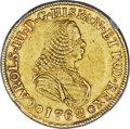Colombia, Colombia: Charles III gold 4 Escudos 1762 PN-J AU50 NGC,...