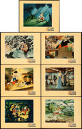 """Movie Posters:Animation, Pinocchio (RKO, 1940). Very Fine-. Lobby Cards (7) (11"""" X 14"""").. ... (Total: 7 Items)"""