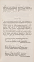 """Books:Horror & Supernatural, [Edgar Allan Poe]. """"The Raven"""" [appearing in:] The American Review. New York: 1845. First edition of the first p... (Total: 2 Items)"""