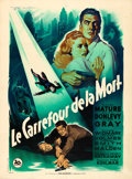 "Movie Posters:Film Noir, Kiss of Death (20th Century Fox, 1948). Very Fine- on Linen. FrenchGrande (46.5"" X 63"") Style B, Roger Soubie Artwork.. ..."