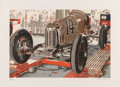 Fine Art - Work on Paper:Print, Ron Kleemann (b. 1937). Old Indy, 1980. Screenprint in colors on Somerset paper. 22 x 30 inches (55.9 x 76.2 cm) (sheet)...