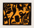 Fine Art - Work on Paper:Print, Charlie Hewitt (b. 1946). Untitled-G, c. 1980. Woodblock print in colors on paper. 20 x 24 inches (50.8 x 61 cm) (sheet)...