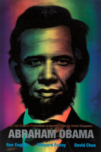 Ron English (b. 1959) Abraham Obama (Red, White, and Blue), 2009 Lenticular 3 color flip print 36