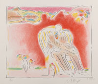 Peter Max (b. 1937) The Garden, 1980 Lithograph in colors on paper 21-1/2 x 25 inches (54.6 x 63