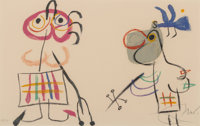 Joan Miró (1893-1983) Untitled, from L'Enfance D'Ubu, 1975 Lithograph in colors on wove p