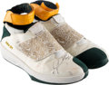 "Basketball Collectibles:Others, 2005 Ray Allen Game Worn & Signed Seattle Supersonics ""TeamJordan"" Sneakers...."