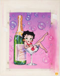 Animation Art:Production Drawing, Leslie Cabarga Betty Boop Greeting Card Illustration and Reproductions Group of 3 (Paper Moon Graphics, c. 1990s)... (Total: 3 Items)