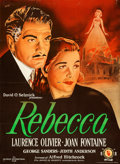 Movie Posters:Hitchcock, Rebecca (Eagle Lion, 1951). Folded, Fine+. First P...
