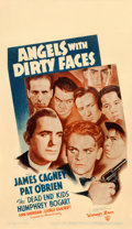"""Movie Posters:Crime, Angels with Dirty Faces (Warner Brothers, R-1943). Fine+. Midget Window Card (8"""" X 14"""").. ..."""