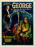 """Movie Posters:Miscellaneous, George -- The Supreme Master of Magic (Otis Litho, Mid 1920s). Very Fine- on Linen. Poster (20"""" X 26.75"""").. ..."""
