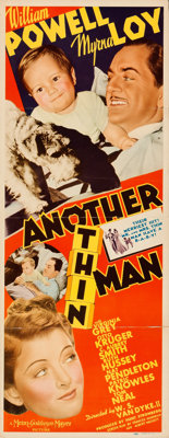 "Another Thin Man (MGM, 1939). Folded, Fine/Very Fine. Insert (14"" X 36""). Mystery"