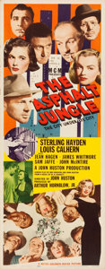 "Movie Posters:Film Noir, The Asphalt Jungle (MGM, 1950). Folded, Very Fine-. Insert (14"" X 36"").. ..."