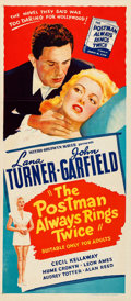 "Movie Posters:Film Noir, The Postman Always Rings Twice (MGM, 1946). Folded, Very Fine.Australian Daybill (13.25"" X 30"").. ..."