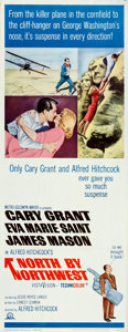 """Movie Posters:Hitchcock, North by Northwest (MGM, R-1966). Folded, Very Fine. Insert (14"""" X 36"""").. ..."""