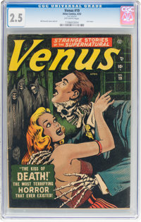 Venus #19 (Timely, 1952) CGC GD+ 2.5 Off-white pages