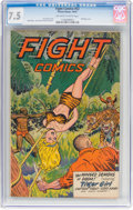 Golden Age (1938-1955):Adventure, Fight Comics #52 (Fiction House, 1947) CGC VF- 7.5 Off-white to white pages....