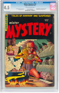 Golden Age (1938-1955):Horror, Mister Mystery #18 (Aragon, 1954) CGC VG+ 4.5 Tan to off-white pages....