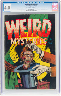 Weird Mysteries #6 (Gillmor, 1953) CGC VG 4.0 Off-white to white pages