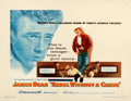 """Movie Posters:Drama, Rebel Without a Cause (Warner Brothers, 1955). Fine/Very Fine onPaper. Half Sheet (22"""" X 28"""").. ..."""