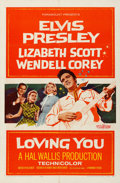 "Movie Posters:Elvis Presley, Loving You (Paramount, 1957). Folded, Fine/Very Fine. One Sheet(27"" X 41"").. ..."