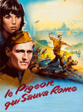 "Movie Posters:Comedy, The Pigeon That Took Rome by Roger Soubie (Paramount, 1962). Rolled, Fine-. Signed Original Gouache Artwork on Paper (46"" X ..."