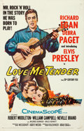 "Movie Posters:Elvis Presley, Love Me Tender (20th Century Fox, 1956). Fine/Very Fine on Linen.One Sheet (27"" X 41"").. ..."