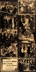 "Movie Posters:Comedy, A Night at the Opera (MGM, 1936). Fine+. Spanish Title Lobby Card,Spanish Lobby Cards (5) (7.5"" X 9.5""), Trimmed Spanish Ti...(Total: 15 Items)"
