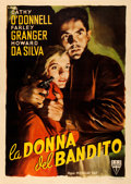 "Movie Posters:Film Noir, They Live by Night (RKO, 1949). Very Fine- on Linen. Italian 4 -Fogli (54.25"" X 76"") Averardo Ciriello Artwork.. ..."
