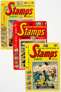 Stamps Comics Group of 7 (Youthful Magazines, 1951-52) Condition: Average GD/VG.... (Total: 7 Comic Books)
