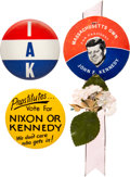Political:Pinback Buttons (1896-present), John F. Kennedy: Three Campaign Badges....