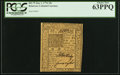 Colonial Notes:Delaware, Delaware January 1, 1776 10s PCGS Choice New 63PPQ.. ...