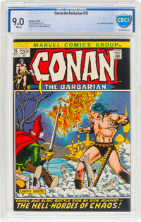 Conan the Barbarian #15 (Marvel, 1972) CBCS VF/NM 9.0 White pages