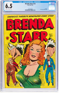 Brenda Starr #13 (#1) (Four Star, 1947) CGC FN+ 6.5 Cream to off-white pages