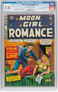 "Golden Age (1938-1955):Romance, A Moon, A Girl...Romance #9 Davis Crippen (""D"" Copy) Pedigree (EC,1949) CGC FN/VF 7.0 Cream to off-white pages...."