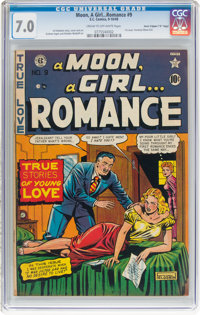 "A Moon, A Girl...Romance #9 Davis Crippen (""D"" Copy) Pedigree (EC, 1949) CGC FN/VF 7.0 Cream to off-white page..."