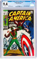 Silver Age (1956-1969):Superhero, Captain America #117 (Marvel, 1969) CGC NM 9.4 White pages....