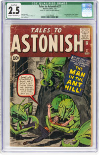 Tales to Astonish #27 (Marvel, 1962) CGC Qualified GD+ 2.5 Cream to off-white pages