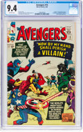 Silver Age (1956-1969):Superhero, The Avengers #15 (Marvel, 1965) CGC NM 9.4 Off-white pages....